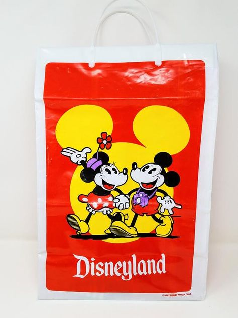 WALT DISNEY WORLD PAPER SHOPPING BAG 1980's MAGIC KINGDOM EPCOT MGM STUDIOS