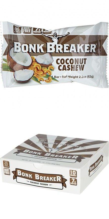 Bonk Breaker Energy Bar Coconut Cashew Individual Bar Energy Bars Coconut Bar