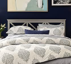 Asher Medallion Organic Percale Duvet Cover Amp Shams Twilight Duvet Bedding Duvet Cover Master Bedroom Luxury Duvet Covers
