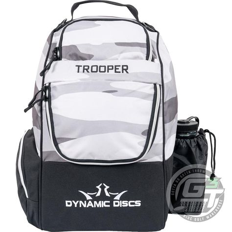 Dynamic Discs Trooper V2 Backpack Disc Golf Bag - Arctic Camo / Black