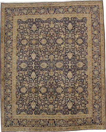 Vintage Blue Classic 10x12 Kerman Persian Rug Magic Rugs Persian Rug Vintage Persian Rug Rugs