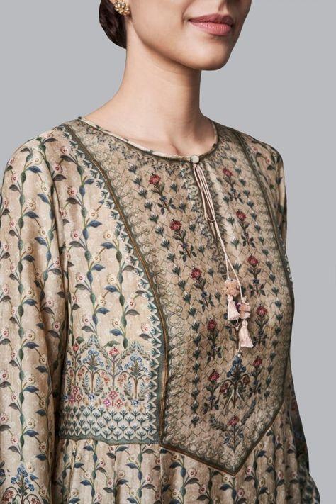 Ladies Dress - Buy Tusharika Tunic for Women Online - FW18RR321_Beige - Anita Dongre