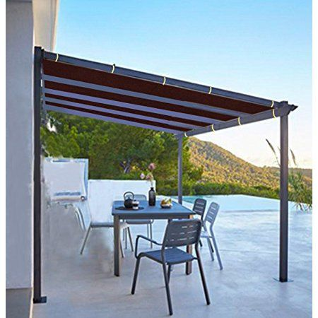 Shatex 6x10ft Wine Red Outdoor Waterproof Sunscreen Shade Panel Ready To Tie Ropes Designed For Pergola Patio Window Rv Awning Walmart Com Pergola Patio Pergola Pergola Plans