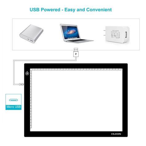 Amazon Com Huion L4s 17 7 Inches Led Light Box A4 Ultra Thin Usb Powered Adjustable Light Pad For Tracing Led Light Box Usb Too Thin