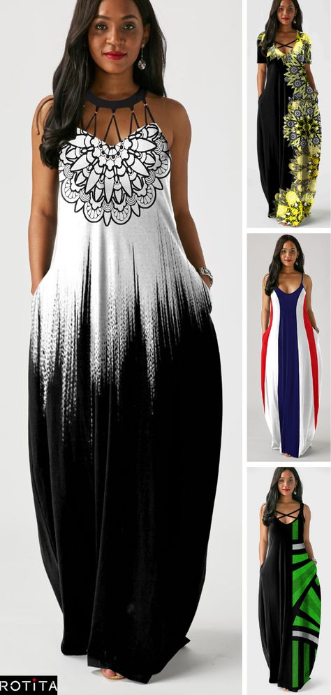 The best dresss to get inspiration from, whether you're staying at home, having a date night or looking for summer outfits! #rotita #dresses #maxidress Classy Outfits, Pretty Outfits, Pretty Dresses, Beautiful Dresses, African Print Dress Prom, African Dress, Women's Fashion Dresses, Casual Dresses, Summer Dresses