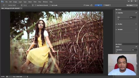 Adobe Photoshop Cs6 Field Blur Tutorial Bokeh