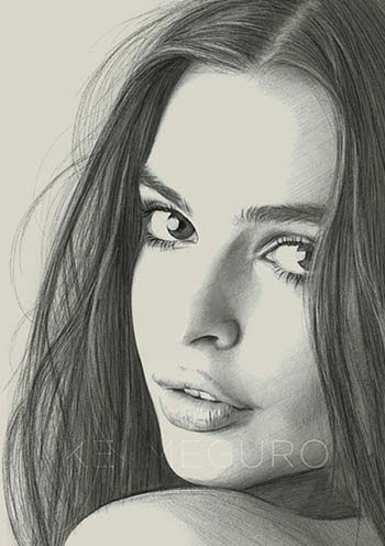 Kei Meguro Pencil Drawing Images Pencil Portrait Face Drawing