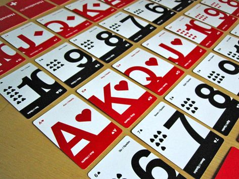 Helveticards, Minimalist Typographic Playing Cards