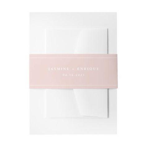 Modern Blush Pink Wedding #modern #monogram #simple #classic #wedding #personalized #solidcolor #minimalist #blushpink #pink
