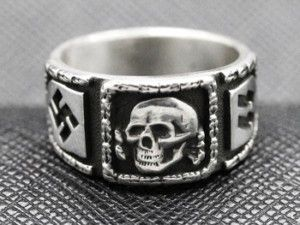 Ring 925 Silber Totenkopf Black Zirkonia Deathhead Skull massiv Sterling Silver