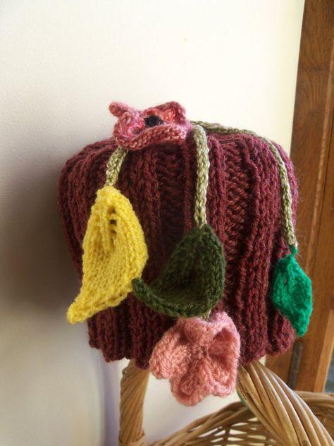 Bonnet fille 4 ans tricoté main hippie chic flower power baba cool bobo  chic bohème bohemian 24eb4a5a584
