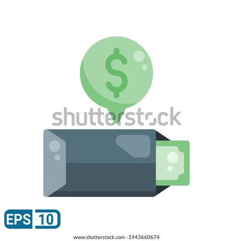 Envelope Money Icon Flat Style Isolated Stock Vector (Royalty Free) 1943660674