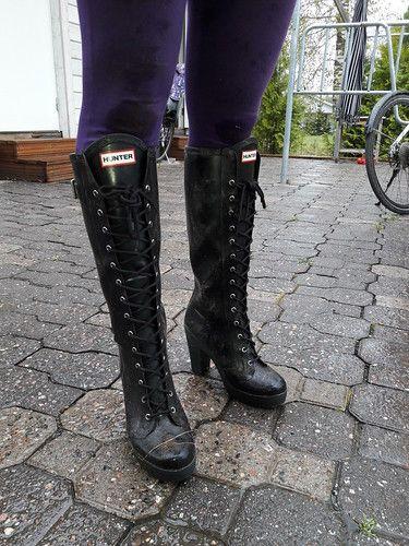 Garden work wearing high heels (jazka74) Tags: wellies