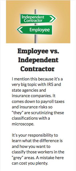 Employee Vs Independent Contractor I Mention This Because ItS A