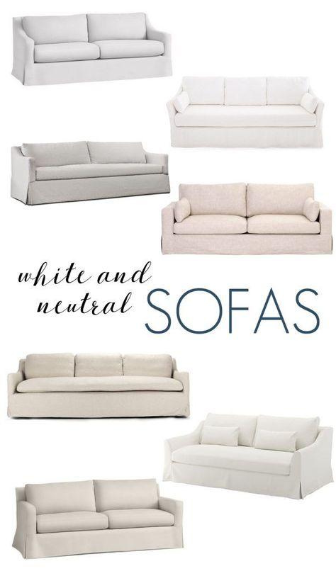 White And Neutral Sofas Neutral Sofa Family Room Design Sofa