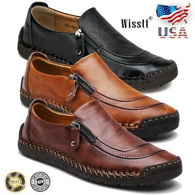 Fashion Men/'s Leather Casual Shoes Antiskid Loafers Driving Moccasins