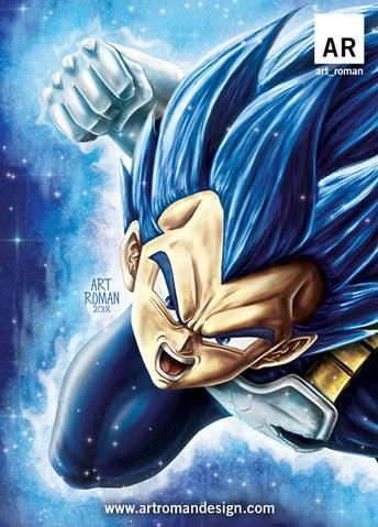 Vegeta Super Saiyan Blue Evolution Dragon Ball Z Super