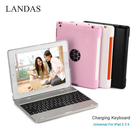 universal bluetooth wireless charging keyboard for ipad 3 2 4 case rh pinterest ie