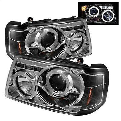 Spyder Auto 5010506 Halo Led Projector Headlights Fits 01 11 Ranger In 2020 Ford Ranger Projector Headlights Car Ford