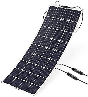 Amazon Com Allpowers 18v 12v 100w Solar Panel Charger Monocrystalline Lightweight Flexible With Mc4 Connector C 12v Solar Panel Best Solar Panels Solar Panels