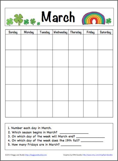 Free Printable Worksheets Calendar Activities