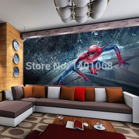 Find More Wallpapers Information About High Quality Modern Luxury 3d  Wallpaper 3D Wall Mural Papel De Parede Photo Wall Paper Spiderman Child  Wallpaper,High ...