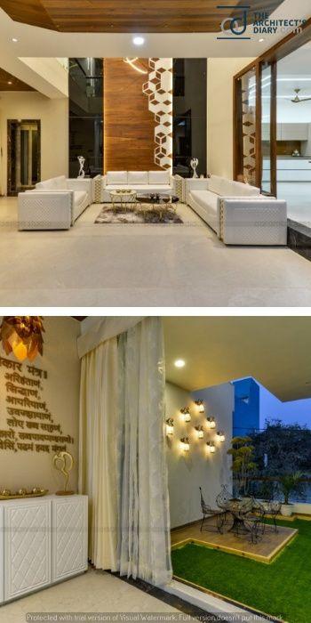Contemporary Indian House In Indore Entrance Door Design Door