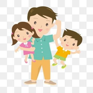 Fathers Day Fathers Day Son Daughter Warm Childrens Double Father Image Png And Vector With Transparent Background For Free Download Happy Fathers Day Son Father Images Fathers Day Banner