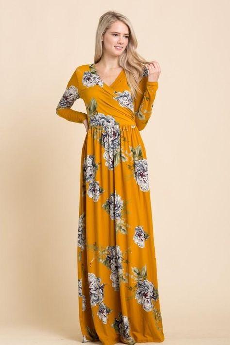 726a47c9 Kari Maxi Dress Mustard   grad fit   Pinterest