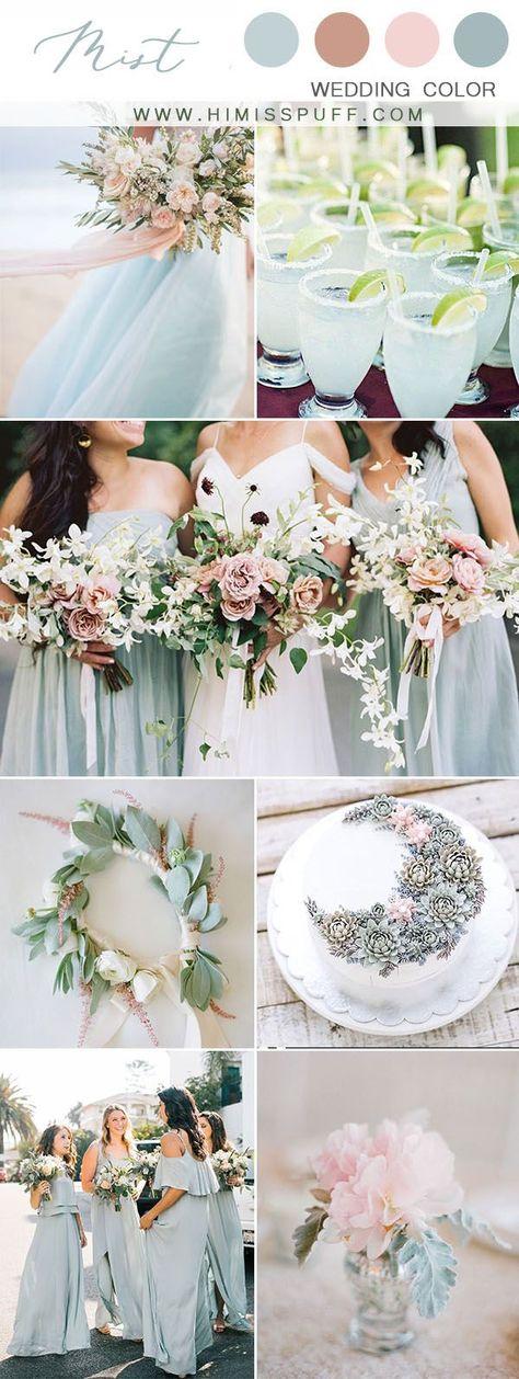 dusty sage bridesmaid dresses mist wedding colour palette wedding trend