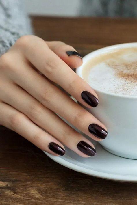 45 Popular Fall Nail Colors for 2020 « homifi.com #nailcolors #nailcolorsonbrownskin #fashion