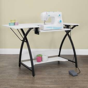 Bangalore Sewing Table In White In 2021 Sewing Table Sewing Machine Tables Sewing Furniture