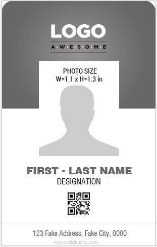 Download At Http Mswordidcards Com 8 Best Professional Design Vertical Id Cards Id Card Template Card Templates Employee Id Card