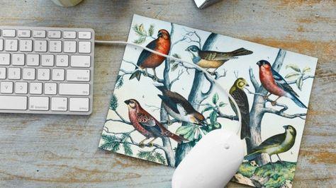 Idee Regalo Per Ufficio : Idea regalo per l ufficio tappetino con motivi floreali e uccelli