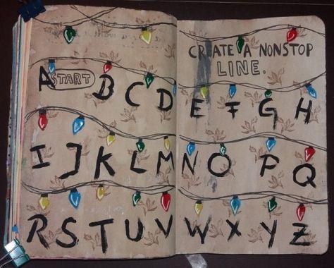 """stadtphilosophin: """"Wreck this journal - Create a nonstop line """""""