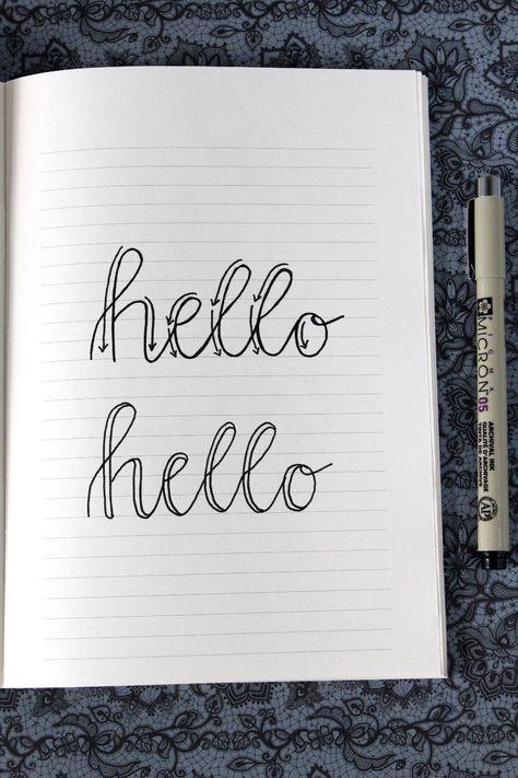 Faux Calligraphy Ganz Einfach Anleitung Zum Nachmachen