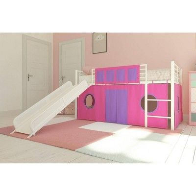Curtain For Kids Loft Bed Pink Room Joy Junior Loft Beds Bed With Slide White Loft Bed