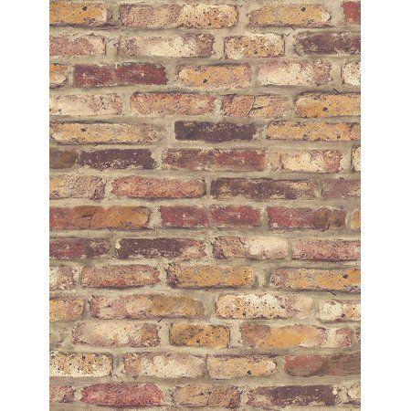 Nextwall Nw30201 Faux Rustic Red Brick Peel And Stick Wallpaper Walmart Com Brick Wallpaper Roll Brick Wallpaper Red Brick Wallpaper