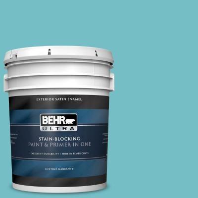 Behr Ultra 5 Gal M460 4 Pure Turquoise Satin Enamel Exterior