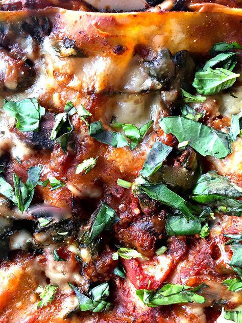 Vegetable Lasagna at ReluctantEntertainer.com
