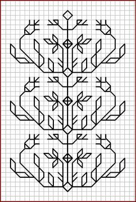 Blackwork pattern:  Misc blackwork examples #10
