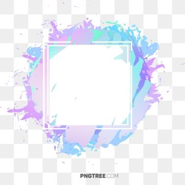 Beautiful Hologram Watercolor Frame Border Frame Pastel Square