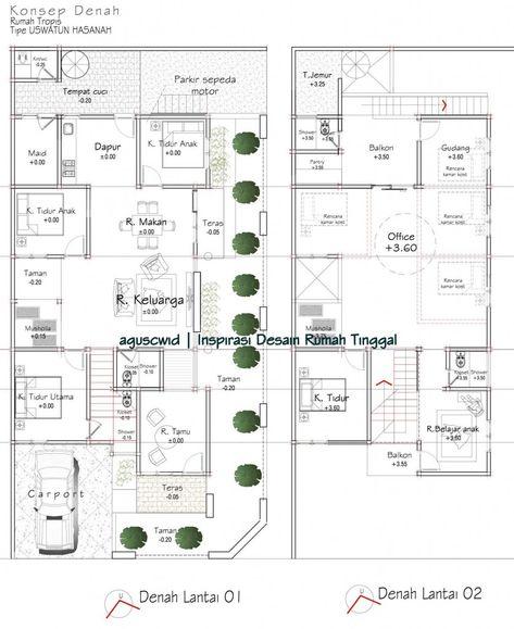 14 Ide Denah 10x20 Denah Rumah Denah Lantai Rumah Desain Rumah