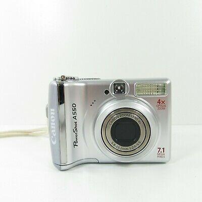 Canon Powershot A550 7 1mp Digital Camera Silver Digital Camera Canon Digital Camera Powershot