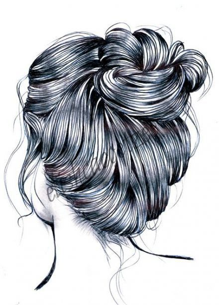 54 Ideas Fashion Ilustration Hairstyles Hair Drawi Acrylic Painting Aesthetic Buns Drawings Fashion Hair Ha How To Draw Hair Messy Hairstyles Hair Sketch
