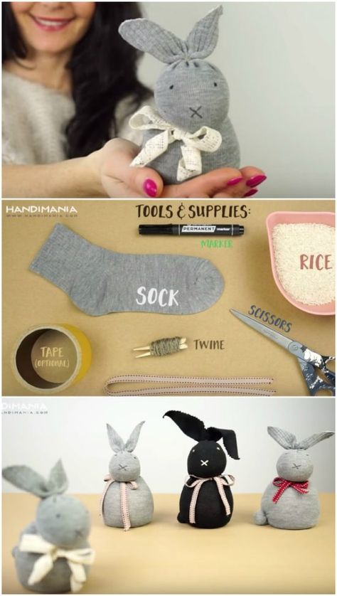 Kids Discover The Sweetest Collection Of DIY Sock Animals To Make beautiful cutest funny wild basteln lustig zeichnen Diy Sock Toys Sock Crafts Bunny Crafts Cute Crafts Crafts To Do Easter Crafts Fabric Crafts Crafts For Girls Diy Toys Diy Sock Toys, Sock Crafts, Bunny Crafts, Easter Crafts For Kids, Cute Crafts, Diy For Kids, Diy Toys, Easter Decor, Easter Ideas