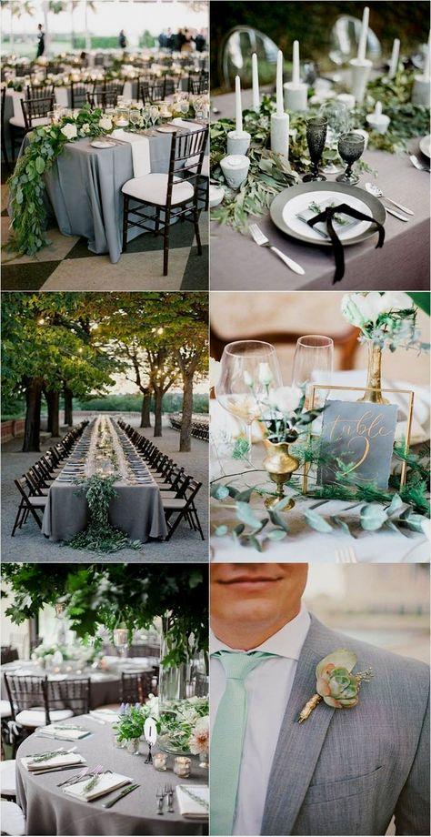 Timeless Grey Marriage ceremony Color Palette Suggestions to Inspire #weddingfoodideas  #goodtimes