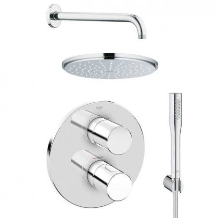 Grohe Grohtherm 3000 Cosmopolitan Shower Solution Pack 4 Chrome