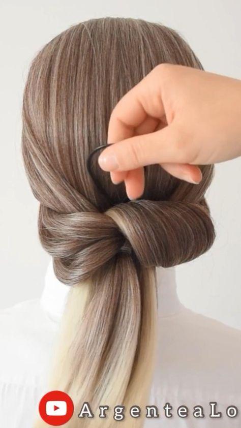Super Easy Bun Hairstyle 🤍