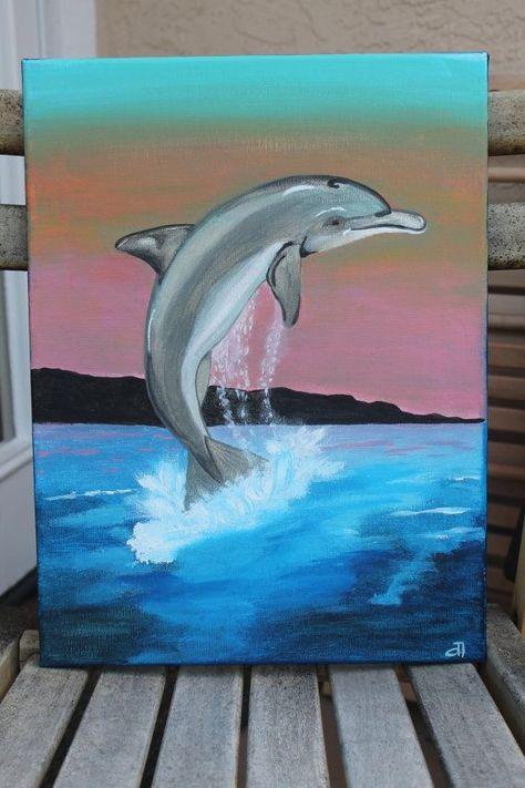 разновидности рисунки гуашью дельфины каждый